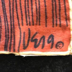 Vintage Vera Neumann silk scarf 32x32